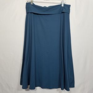 Patagonia Blue A Line Performance Skirt Size XL.